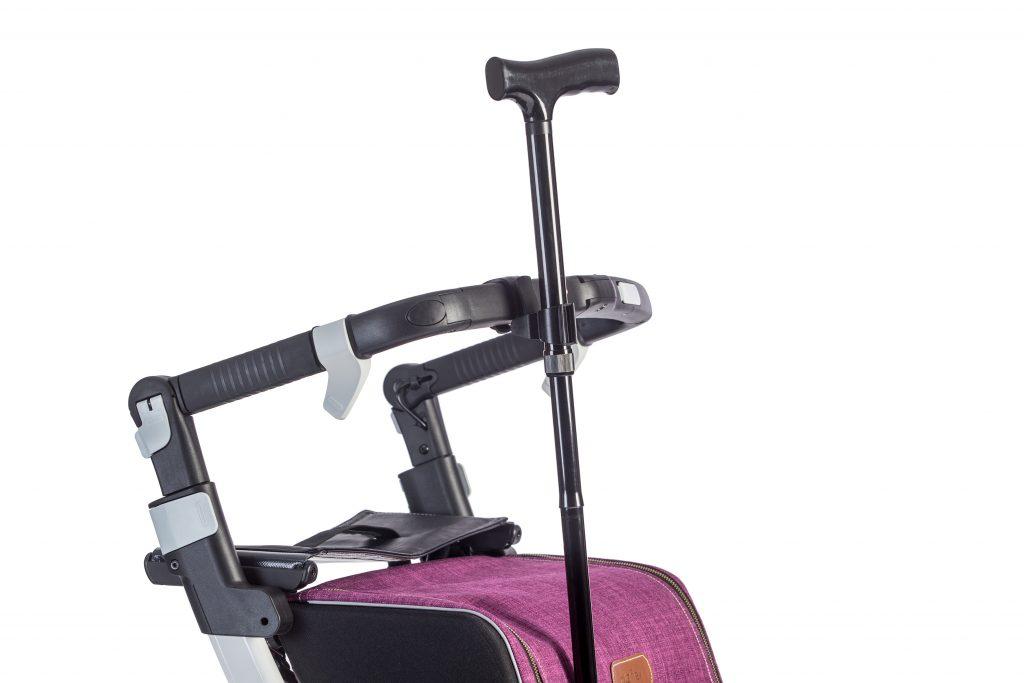 Soporte para Bastón Rollz Flex acoplado al manillar de tu andador