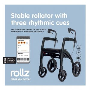 Andador para Parkinson en Rehacare Rollz Motion Rhythm