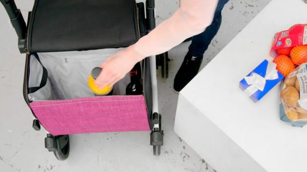 Rollz Flex Blanco con bolso grande de color Granate donde guardas tu compra del día