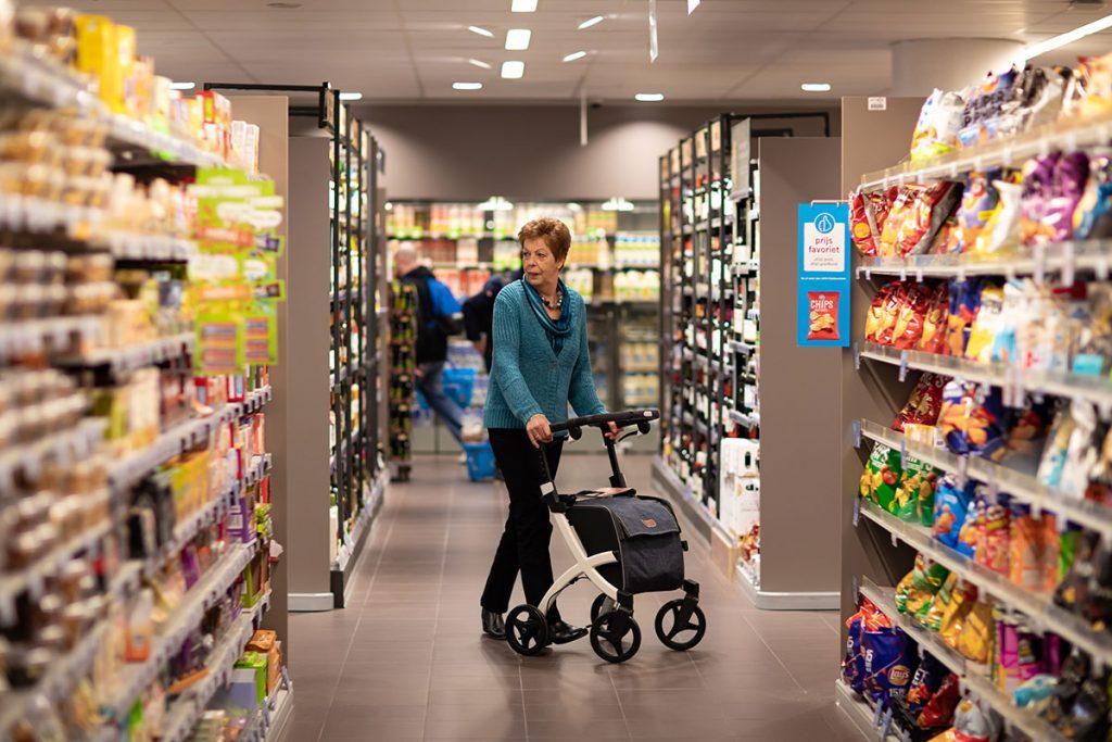 Rollz Flex de compras en el supermercado