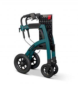 Andador Todoterreno Rollz Motion Performance color verde posición plegado y compacto