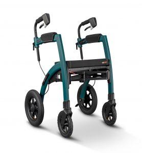 Rollz Motion Performance Andador Todoterreno color verde, convertible en silla de ruedas, ruedas grandes de 7 radios, con asiento y con frenos de tambor