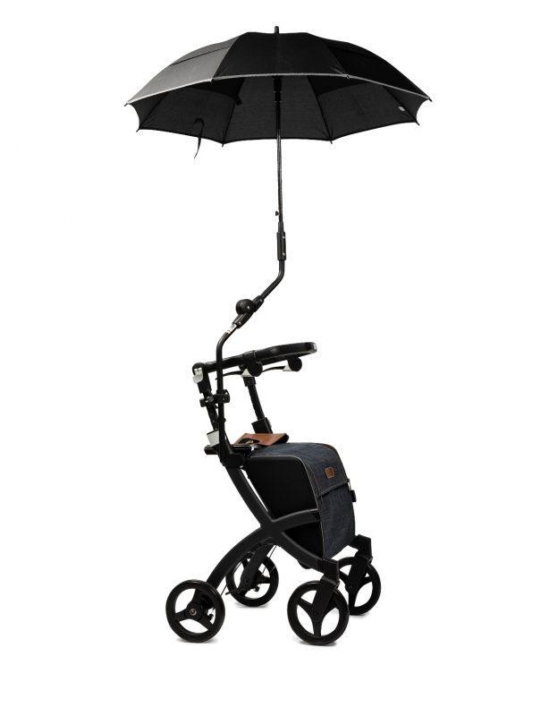 Rollz Flex Paraguas Sombrilla color Negro acoplado al manillar regulable de tu andador