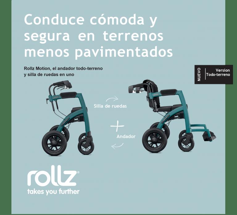 Rollz Motion Performance vista lateral Andador Todoterreno Convertible en Silla de Ruedas