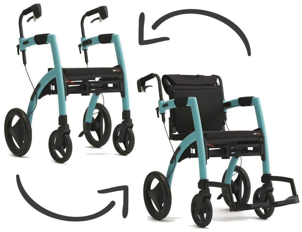 Rollz Motion Andador y silla de ruedas todo en uno color azul