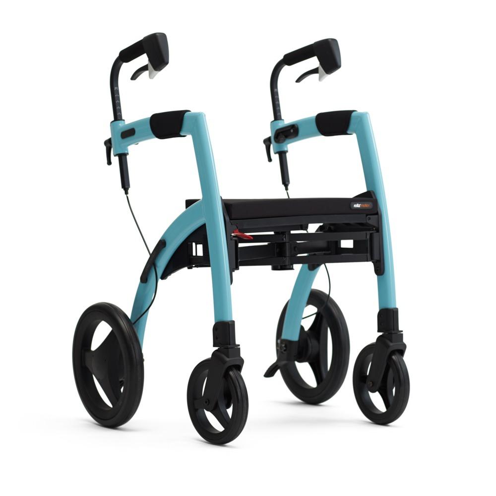 Andador y Silla de Ruedas Convertible Rollz Motion Azul