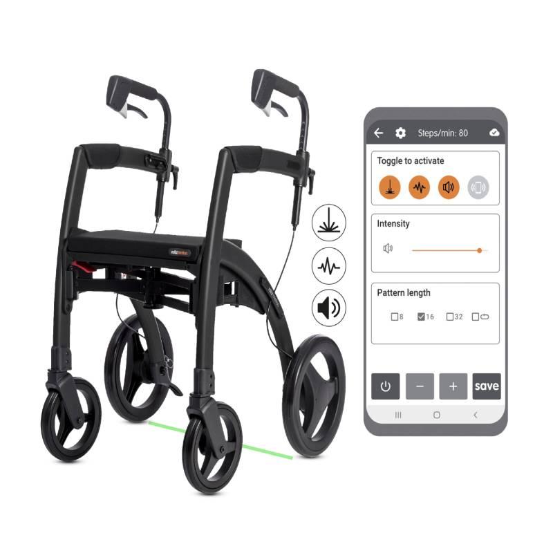 Un andador para personas con Parkinson: Rollz Motion Rhythm