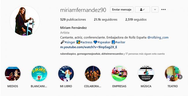 Miriam Fernandez Embajadora Rollz Instagram
