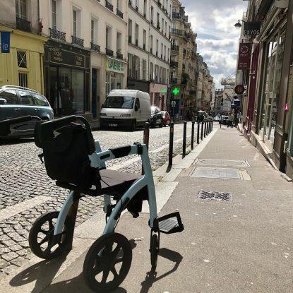 Andador Convertible en Silla de Ruedas Rollz Motion Nueva visita a Paris