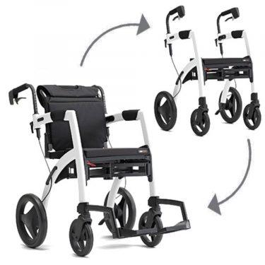 Rollz Motion blanco de andador a silla de ruedas